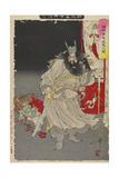 Shoki Capturing a Demon, 1890 Giclee Print by Tsukioka Yoshitoshi