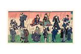 Chotto Hitokuchi Hauta No Ateburi Giclee Print by Toyohara Kunichika