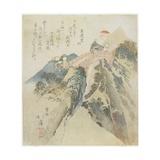 View of the Monkey Bridge, 1824 Giclee Print by Toyota Hokkei