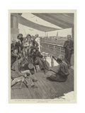On Board an Orient Liner, a Native Conjuror's Entertainment at Suez Giclee Print by Stanley L. Wood