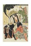 Scene from the Akbuki Play Yukimotsutake Furisode Genji, 1785 Giclee Print by Torii Kiyonaga