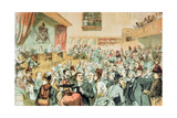 The Commission on Society, from 'St. Stephen's Review Royal Commission Number, Christmas, 1888 Giclee Print by Tom Merry