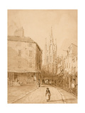 Castle Garth, Newcastle Upon Tyne Giclee Print by Thomas Miles Richardson