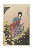 Chang-E Ascending to the Moon, August 1885 Giclee Print by Tsukioka Yoshitoshi