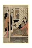 Niwa No Yukimi Giclee Print by Torii Kiyonaga