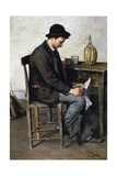 Reading Alone, 1878-1880 Giclee Print by Tito Lessi