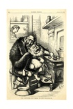 The Cat'S-Paw - Anything to Get Chestnuts, 1872 Giclee Print by Thomas Nast