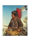 Indian Boy at Fort Snelling, 1862 Giclee Print by Thomas Waterman Wood