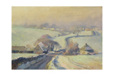 Frosty Fields, Aston, 1991 Giclee Print by Trevor Chamberlain