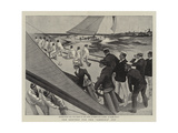 The Contest for the America Cup Giclee Print by T. Dart Walker