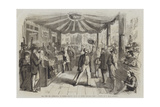 The Vote for Annexation at Naples, Polling Booth at Monte Calvario Giclee Print by Thomas Nast