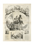Andrew Johnson's Reconstruction and How it Works, 1866 Giclée-tryk af Thomas Nast