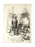 A General Blow Up - Dead Asses Kicking a Live Lion, 1874 Giclee Print by Thomas Nast
