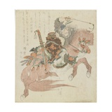 No.5 Horse of a Chinese General Giclee Print by Toyota Hokkei