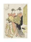 The Courtesan Katsuyama of the Echizenya House, Late 18th-Early 19th Century Giclee Print by Torii Kiyonaga