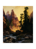 Below the Towers of Tower Falls, Yellowstone Park, 1909 Giclee Print by Thomas Moran