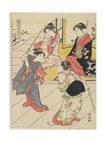 At Jo Etsu's Mansion, 1785 Giclee Print by Torii Kiyonaga