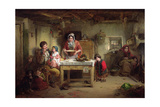 Home and the Homeless, 1856 Giclee Print by Thomas Faed