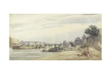 The Pont Des Arts, Paris Giclee Print by Thomas Shotter Boys