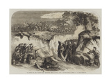The Battle on the Volturno, the Neapolitan Troops Passing Along a Ravine Giclee Print by Thomas Nast