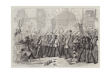 Enthusiastic Reception Given to the British Volunteers for Garibaldi at Naples Giclee Print by Thomas Nast