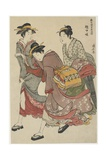 Entertainers of Tachibana-Cho, 1782 Giclee Print by Torii Kiyonaga