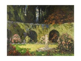 In an Old-World Garden Gicléetryck av Thomas Edwin Mostyn