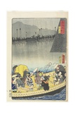 Returning Sails at Yabase in Zeze, April 1863 Giclee Print by Toyohara Kunichika