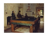 Game of Billiards, 1893 Giclee Print by Tito Lessi