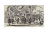 Opening of the South Devon and Tavistock Railway Giclee Print by Thomas Valentine Robins