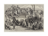 The Revolution in Sicily, Volunteers on Board the Washington Proceeding to Palermo Giclee Print by Thomas Nast