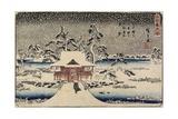 Snow at Benzaiten Shrine in the Pond of Inokashira, 1843-1847 Giclee Print by Utagawa Hiroshige