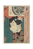 The Sumo Wrestler Onigatake Toemon, C. 1850 Giclee Print by Utagawa Kunisada