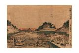 Ukie Fukagawa Eitai Suzumi No Zu Giclee Print by Utagawa Toyoharu