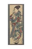 Woman Holding a Towel, 1843-1847 Giclee Print by Utagawa Kunisada