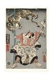 The Actor Onoe Waichi II as Watonai, 1857 Giclee Print by Utagawa Kunisada