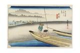 Tenryu River View, Mitsuke, C. 1833 Giclee Print by Utagawa Hiroshige