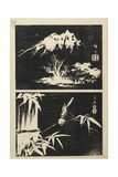 Two Images of Lithograph, Mid 19th Century Giclee Print by Utagawa Hiroshige