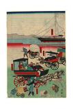 Atarashii Norimono Giclee Print by Utagawa Kuniteru