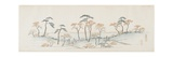 Colored Leaves at Kaianji Temple, 1837-1844 Giclee Print by Utagawa Hiroshige