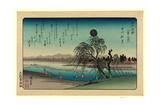 Tamagawa No Shugetsu Autumn Moon over Tama River. Ando Giclee Print by Utagawa Hiroshige