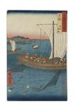 Flatfish Netting and Fish Boats, Wakasa Province, September 1853 Giclee Print by Utagawa Hiroshige