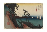 View of Arai, C. 1830-1844 Giclee Print by Utagawa Kunisada