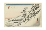 Kameyama--Clear Weather after Snow, C.1833 Giclee Print by Utagawa Hiroshige