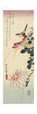 Chrysanthemums and a Shrike, 1830-1858 Giclee Print by Utagawa Hiroshige