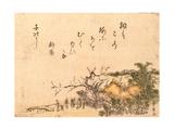 Inakaya No Ume Giclee Print by Utagawa Toyohiro