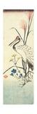 (Pampas Grass, Patrinia, Chinese Bellflower and a Crane), 1830-1858 Giclee Print by Utagawa Hiroshige