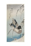 Duck and Snowy Reeds, Early 1830s Giclee Print by Utagawa Hiroshige