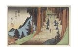 Mount Akiba in Enshu Province, 1837-1839 Giclee Print by Utagawa Hiroshige