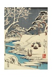 Snow Covered Garden, December 1854 Giclee Print by Utagawa Hiroshige